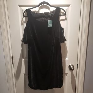 Lauren Ralph Lauren Velvet Cold Shoulder Dress